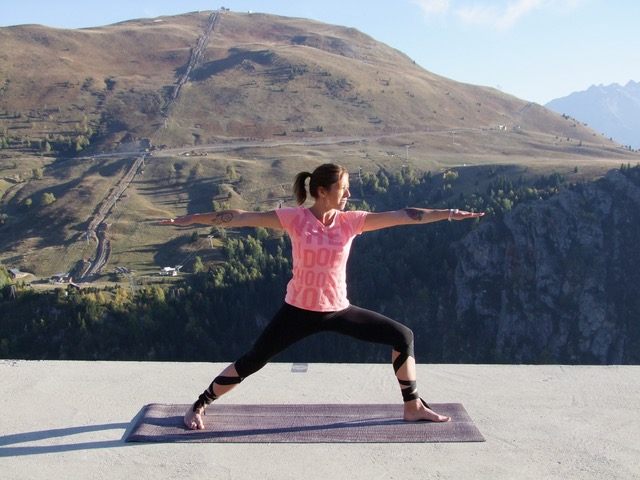 Yoga at the Hotel Le Pic Blanc